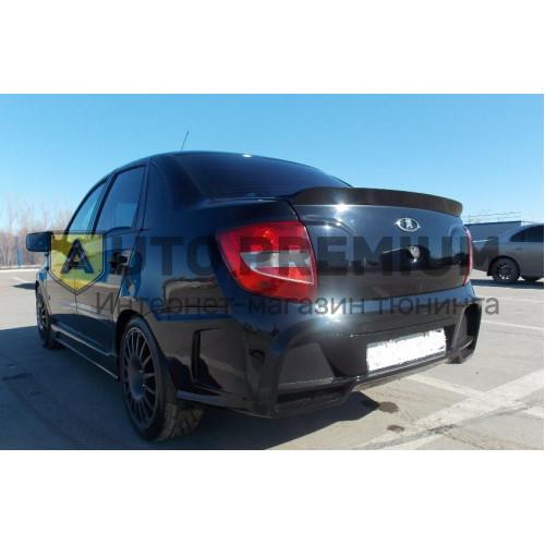 Задний бампер на Лада Гранта седан AVR(с накладкой на крышку багажника)